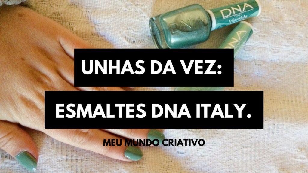 Unhas da vez: Francesinha Metálica - DNA Italy.