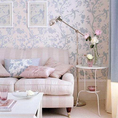 estampa-floral-decoracao-papel-de-parede-sala