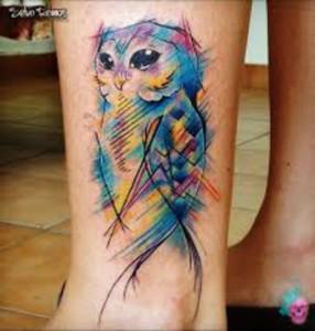 tatuagem-aquarela-coruja