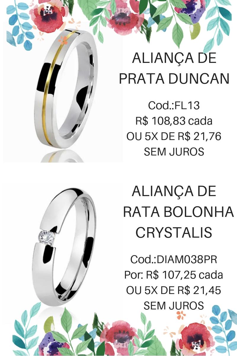 ALIANÇA DE PRATA BOLONHA CRYSTALIS – Cod. DIAM038PR. Fotos  Lojas Rubi. ec5747ed7c